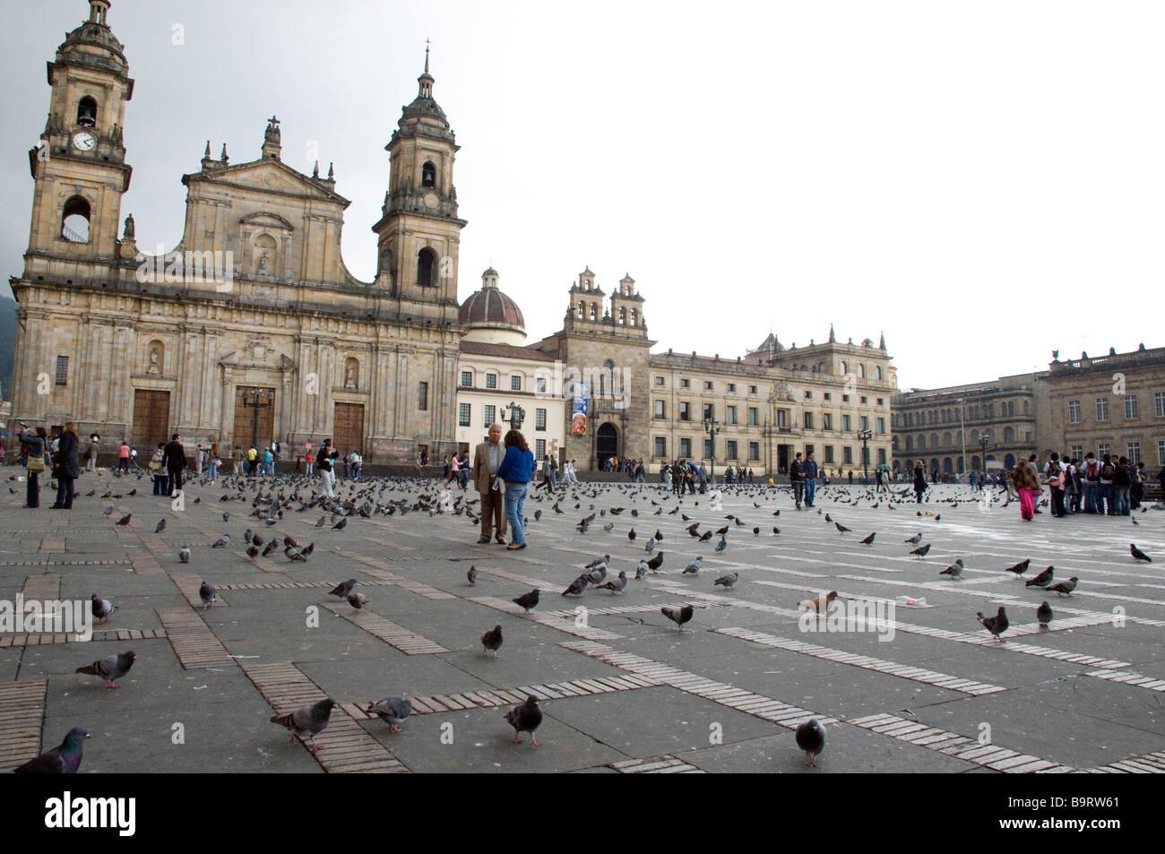 La Plaza de Bolívar, Bogotá, Colombia Imagen De Stock