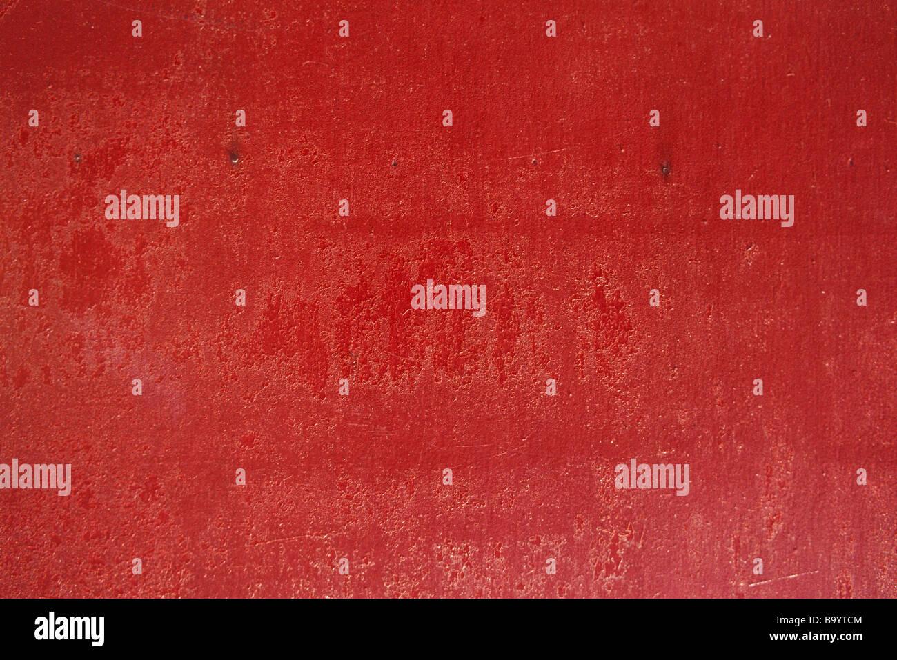 Superficies pintadas de rojo Imagen De Stock