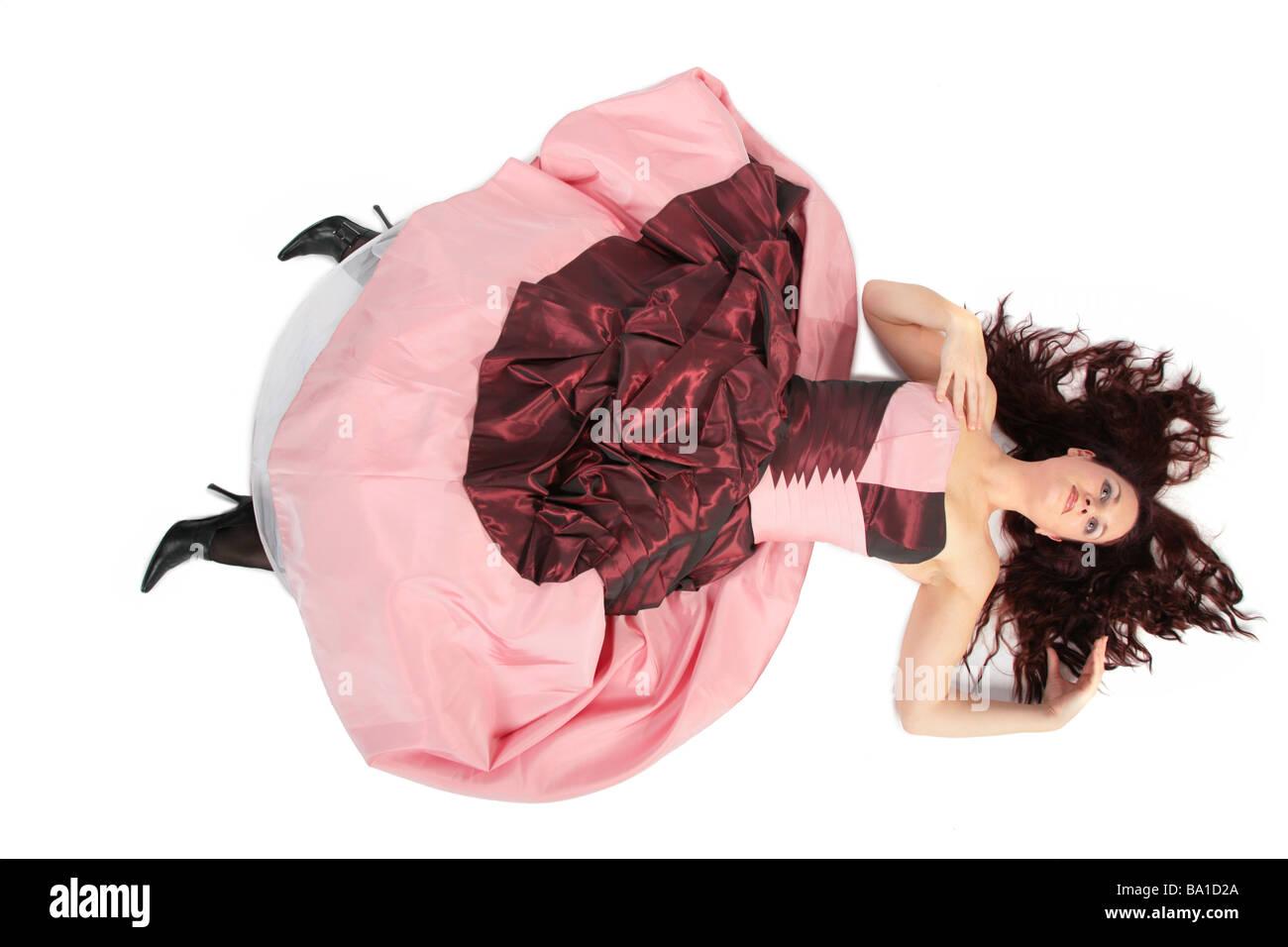 Woman In Dress With Crinoline Imágenes De Stock & Woman In Dress ...