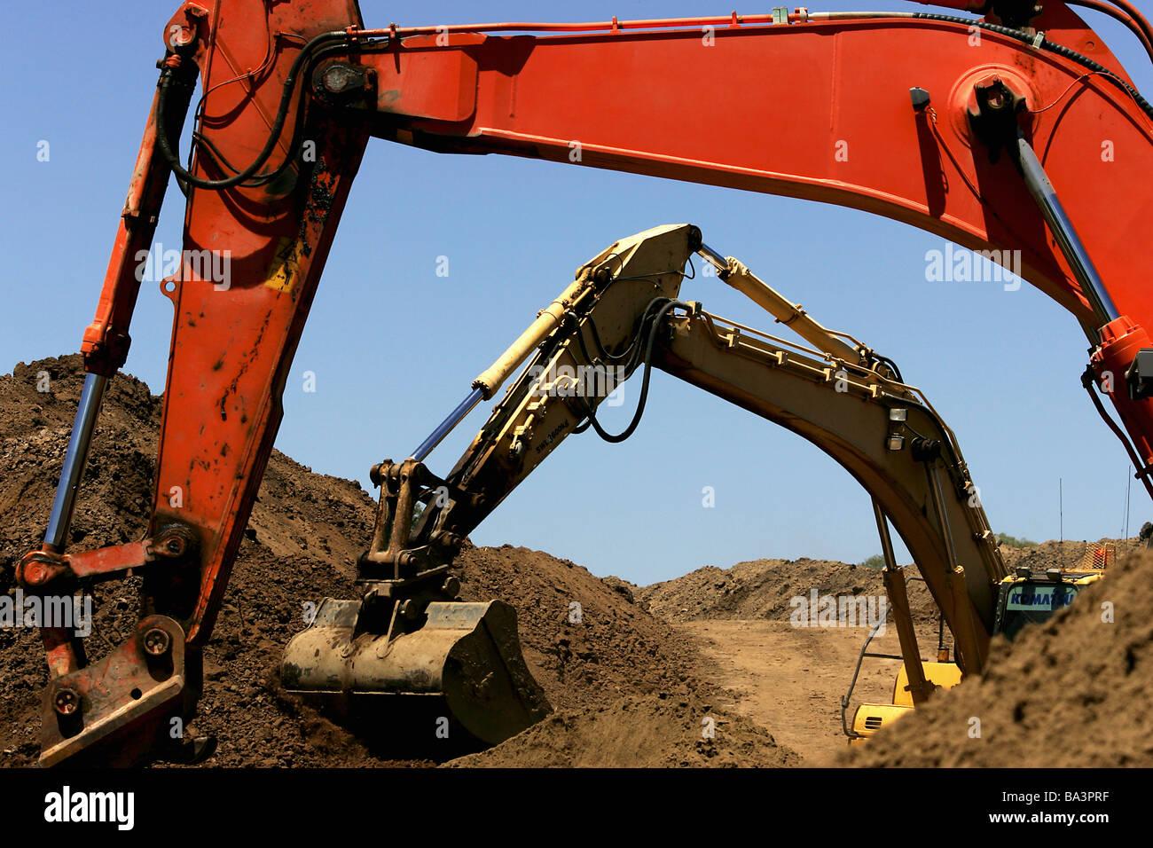 De excavación Foto de stock