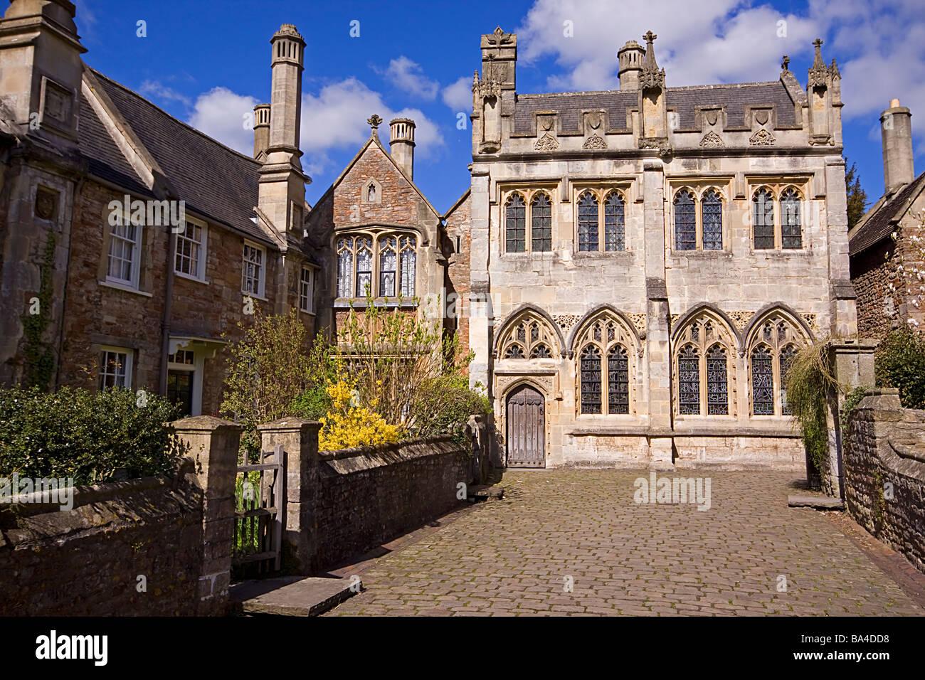 Vicario está cerca - Pozos Somerset England Imagen De Stock