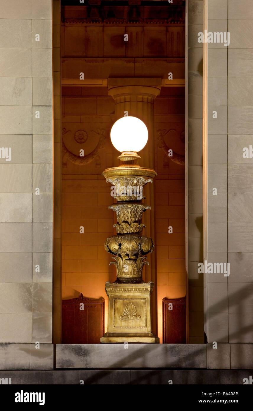 Lámpara War Memorial de Nashville, Tennessee, EE.UU. Imagen De Stock
