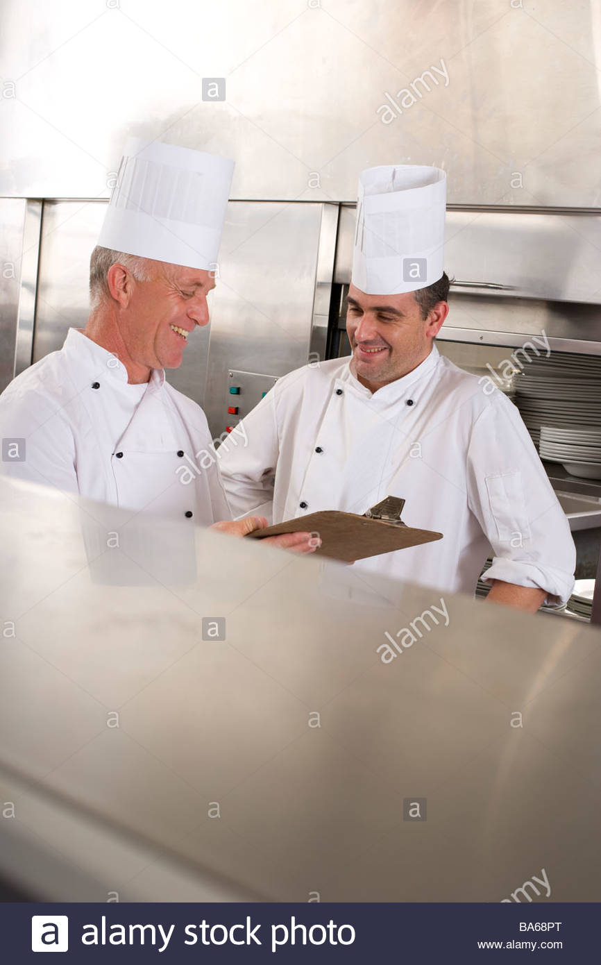 Chefs de cocina comercial Imagen De Stock