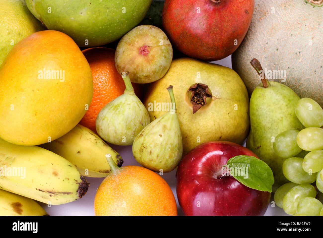 Frutas frescas para fondos Imagen De Stock