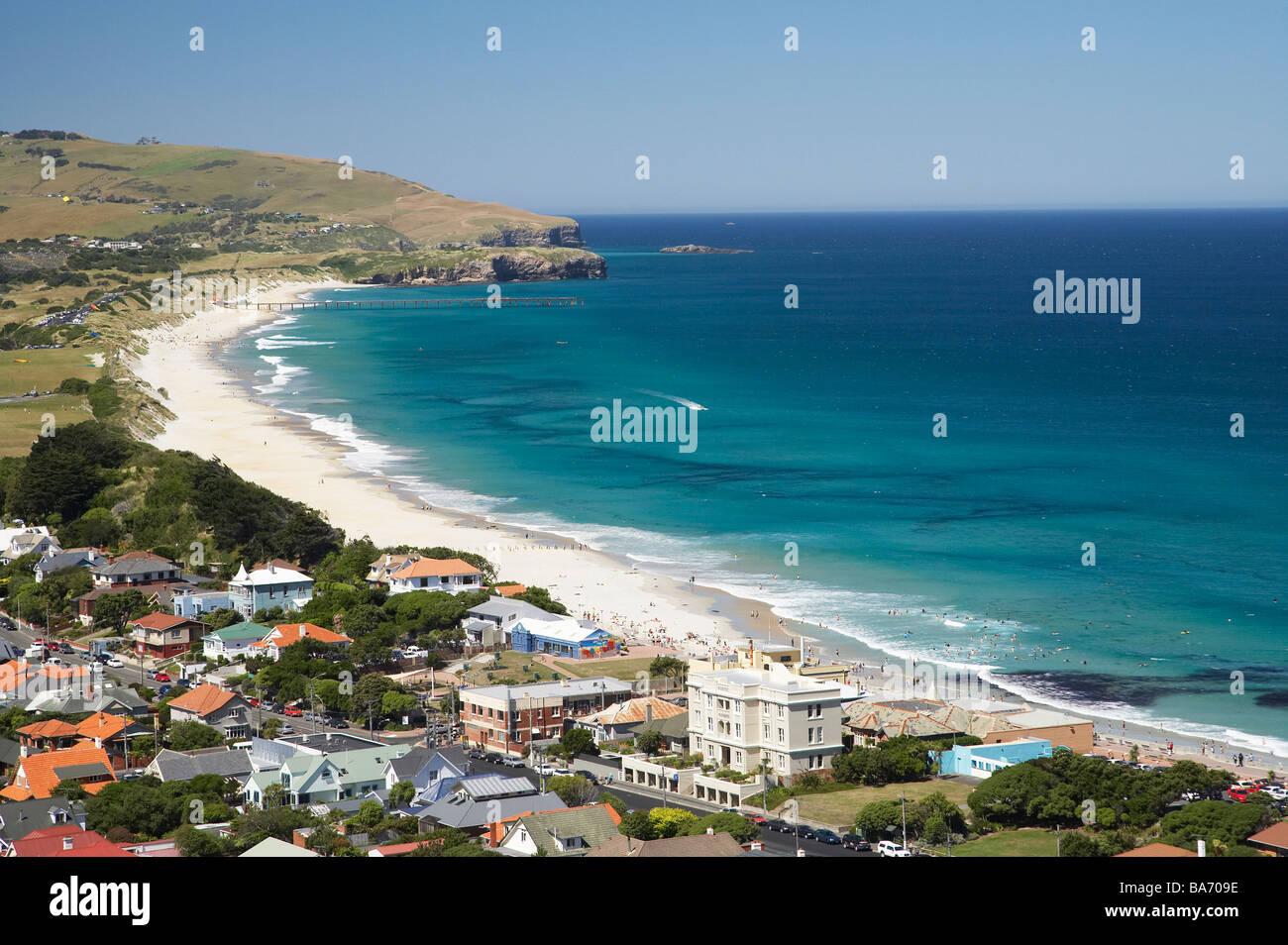 St Kilda y St Clair Playas Dunedin Otago, Isla del Sur, Nueva Zelanda Imagen De Stock