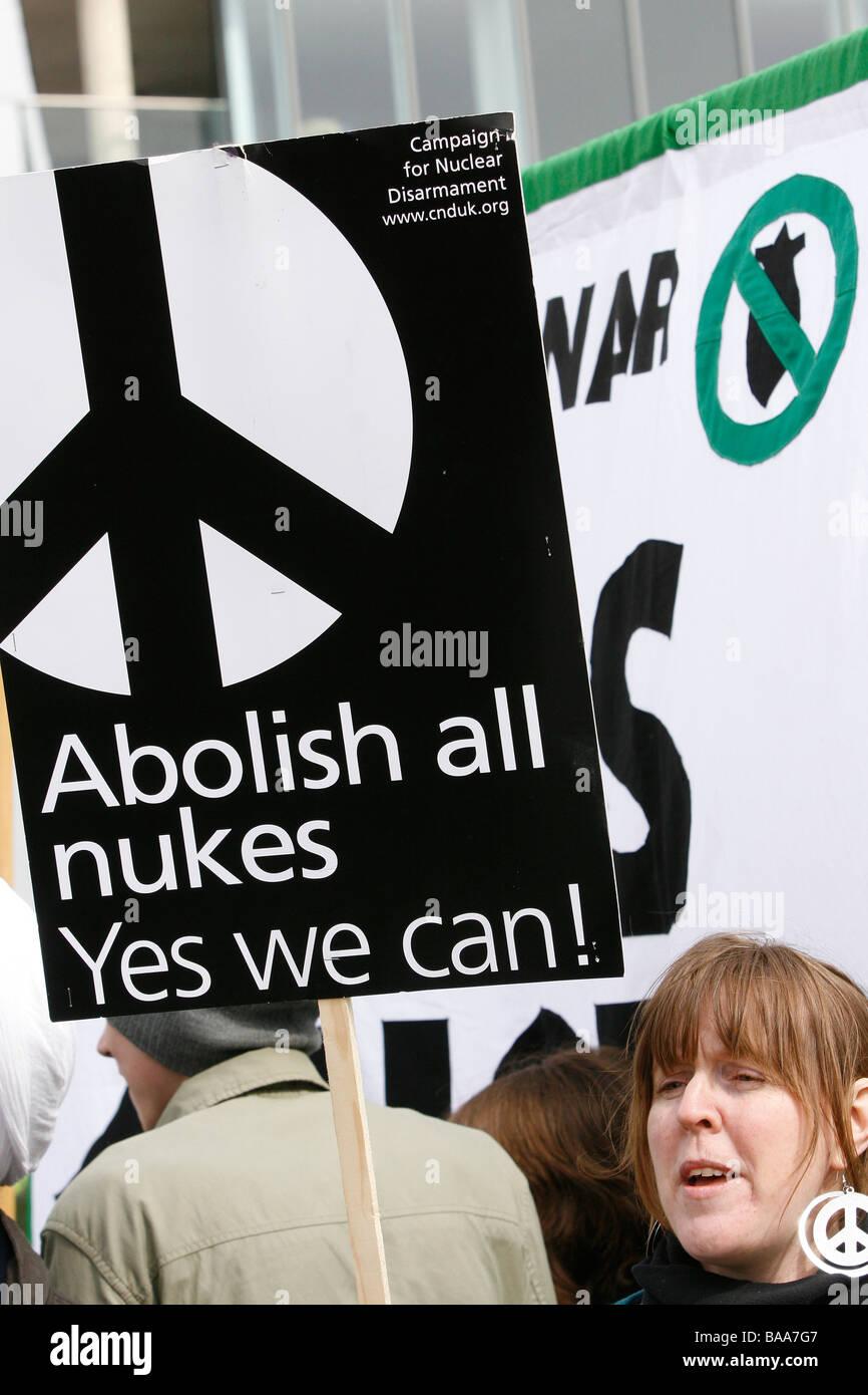 Campaña para el Desarme Nuclear Imagen De Stock