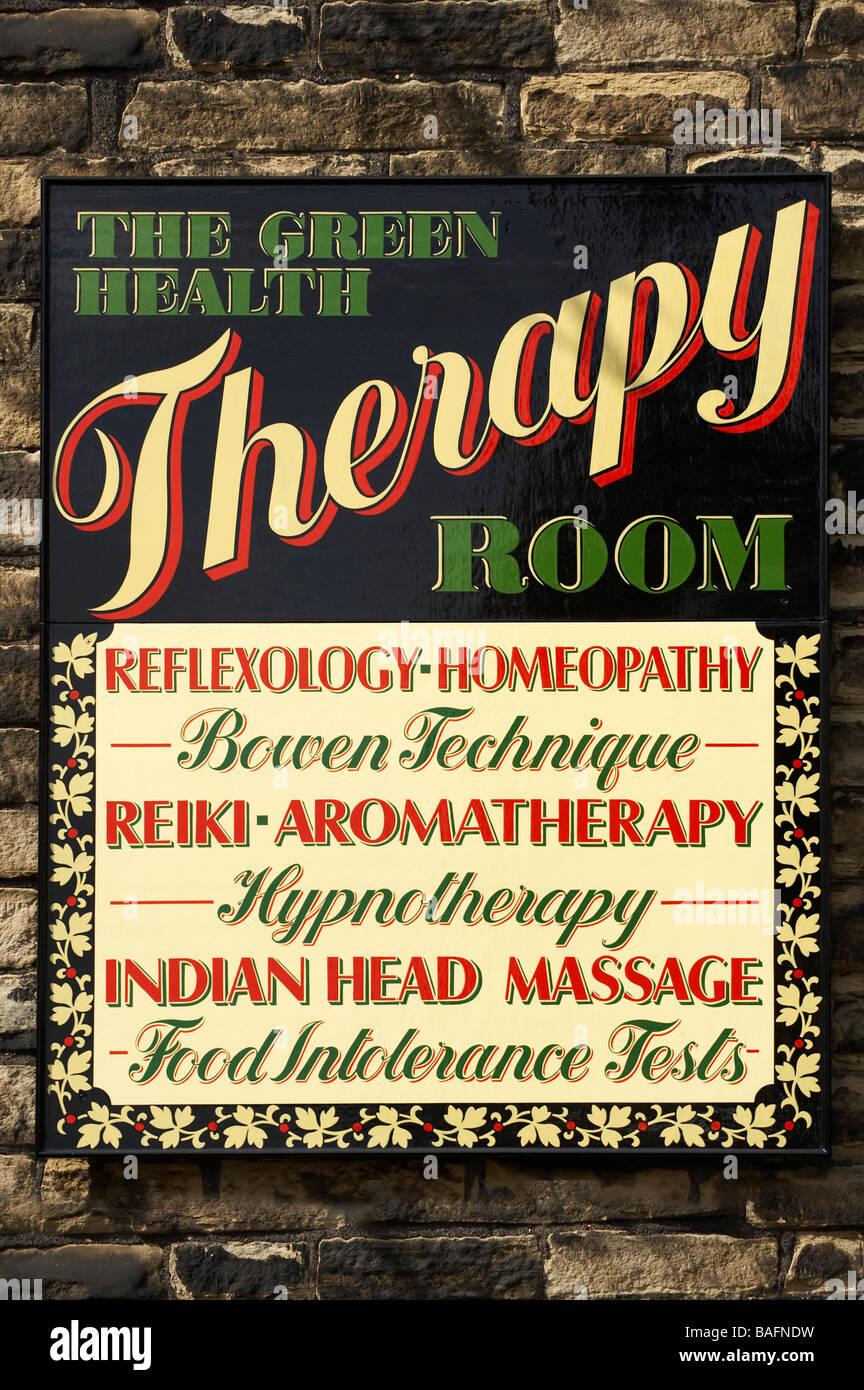 Alternativa medicina homeopática SHOP SIGN Imagen De Stock