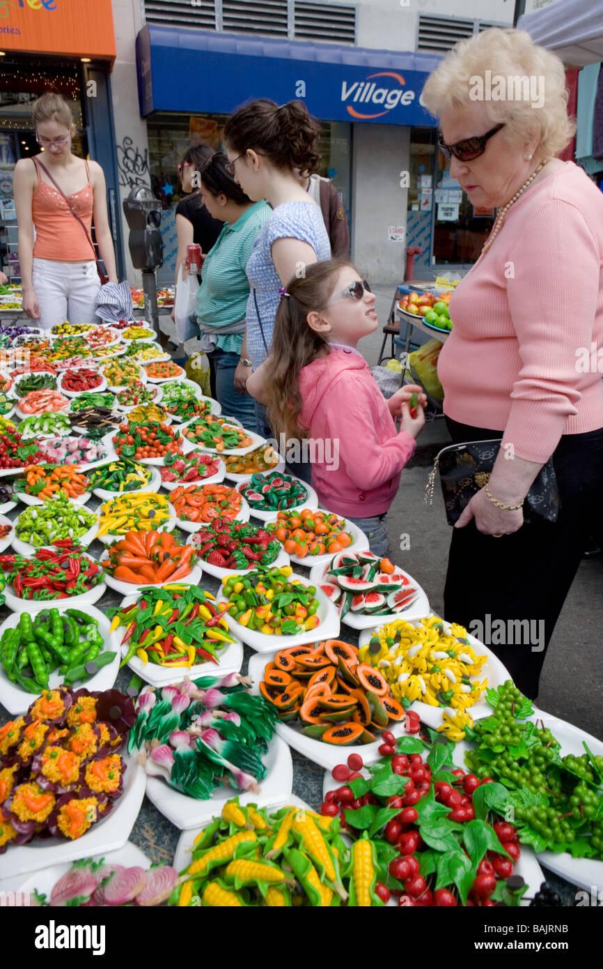 Feria de la calle upper west side de Manhattan, Nueva York Imagen De Stock