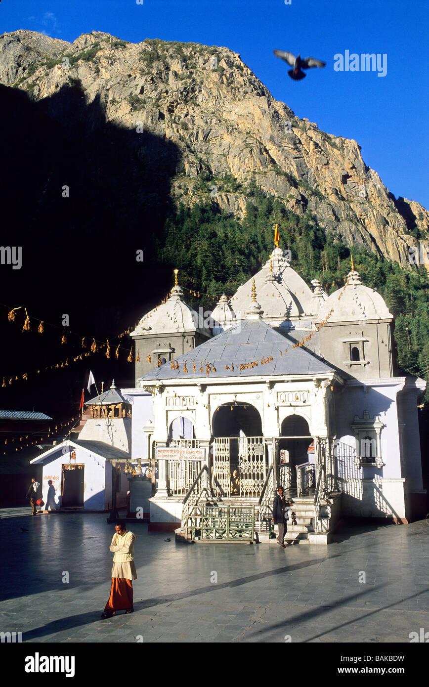 La India, el estado de Uttarakhand, Gangotri, Templo de la diosa hindú Ganga Imagen De Stock