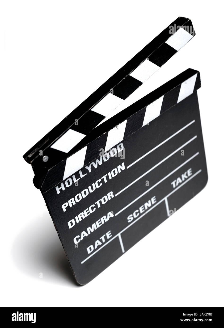 Forma de claqueta de cine Imagen De Stock