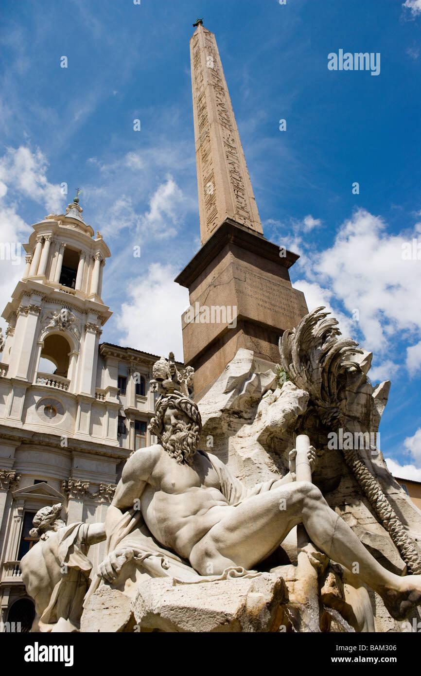 Piazza navonna roma Imagen De Stock