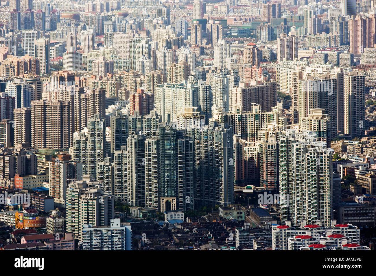 Edificios de apartamentos en Shanghai Foto de stock