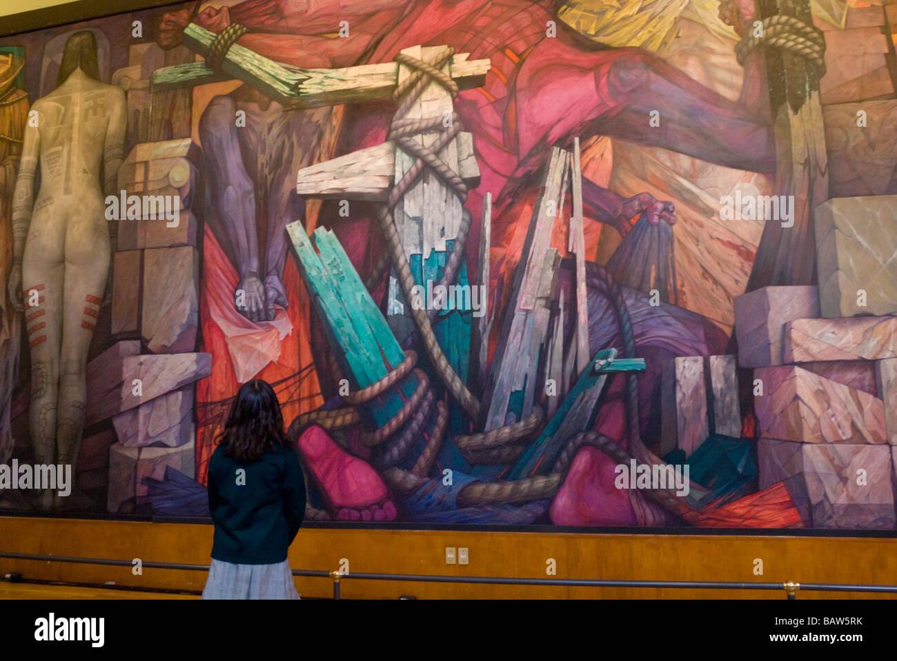Palacio De Bellas Artes En La Ciudad De Mexico Interiores Murales
