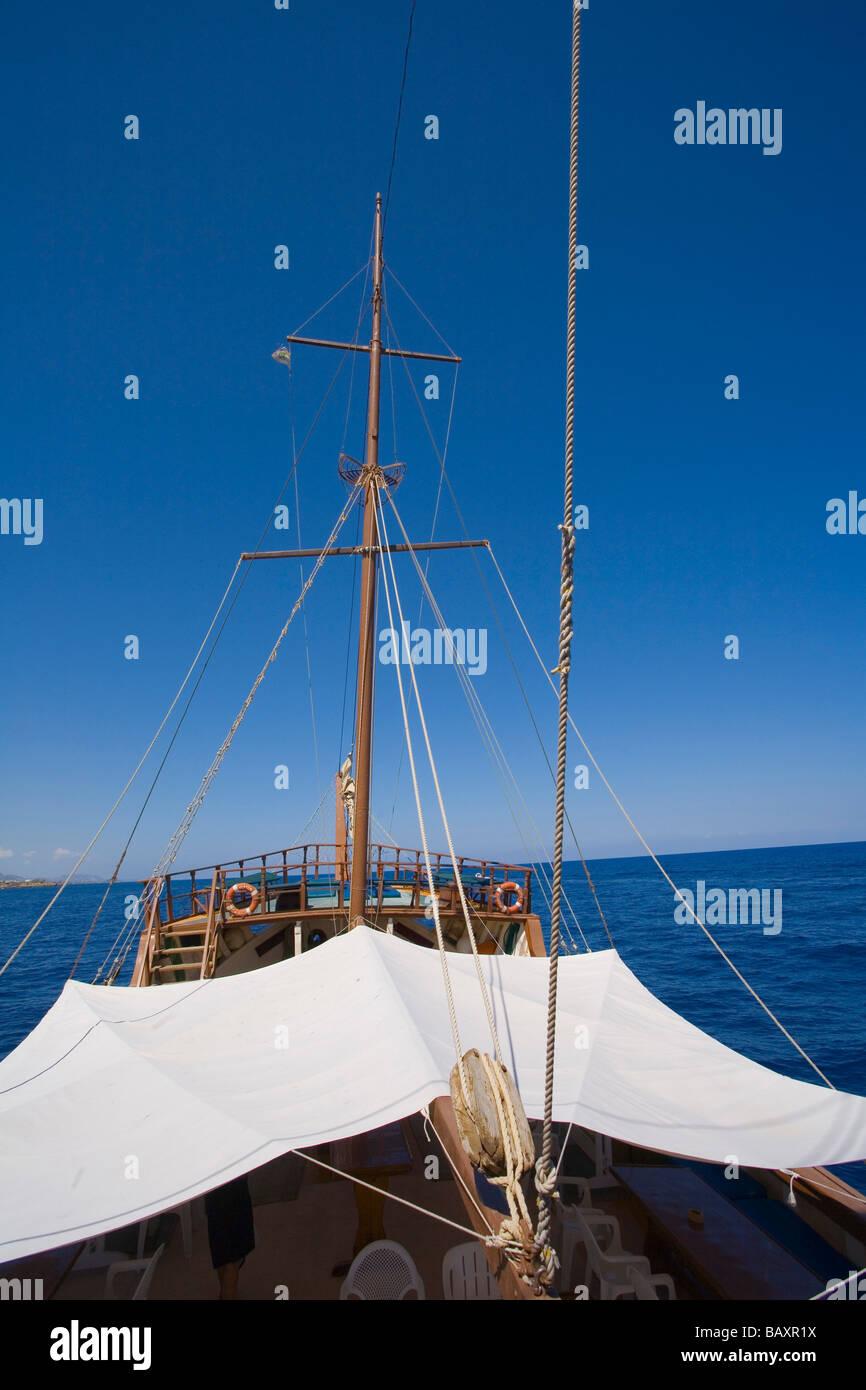 Neptun viaje en barco pirata, Kaleidoskop Turizm, Kyrenia, Chipre Girne, Imagen De Stock