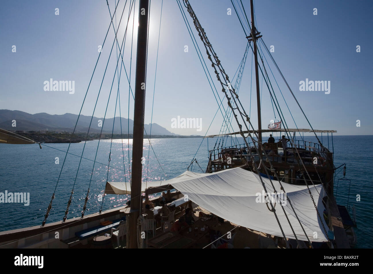 Neptun viaje en barco pirata, por Kaleidoskop Turizm y costa, Kyrenia, Chipre Girne, Imagen De Stock