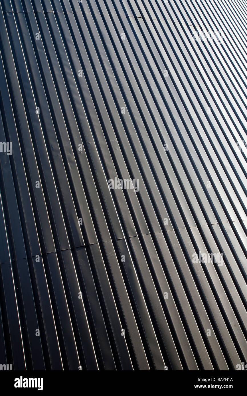 Pared de chapa de hierro ondulada ( CGI ) Foto de stock