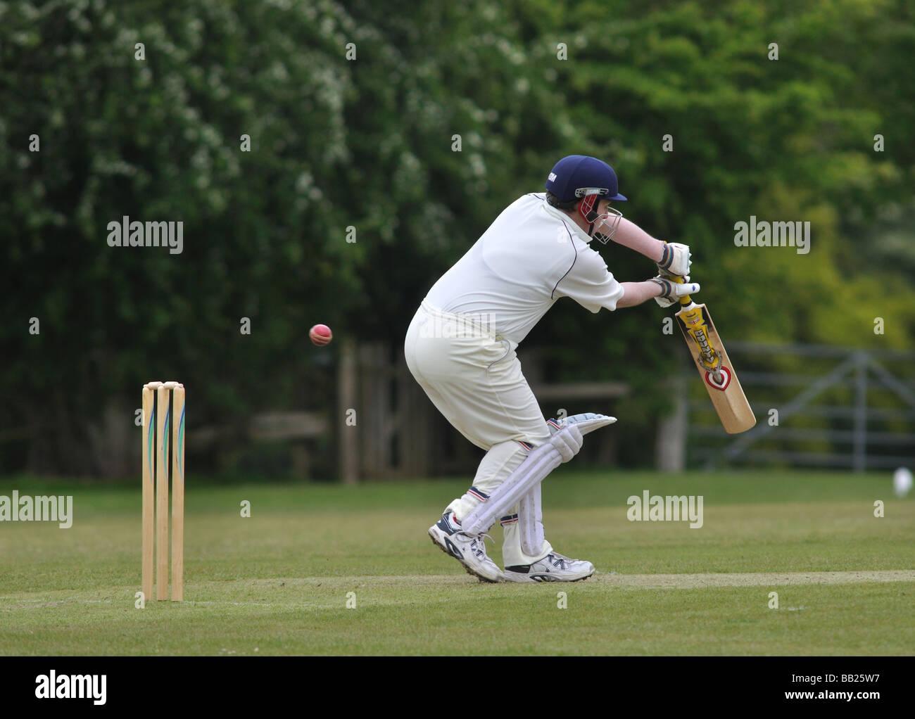 Aldea cricket en Lapworth, Warwickshire, Inglaterra, Reino Unido. Imagen De Stock