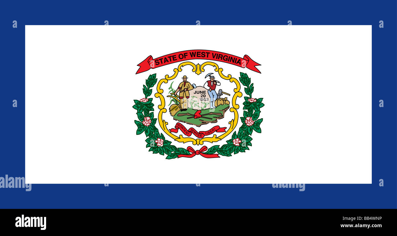 Bandera del estado de West Virginia Imagen De Stock