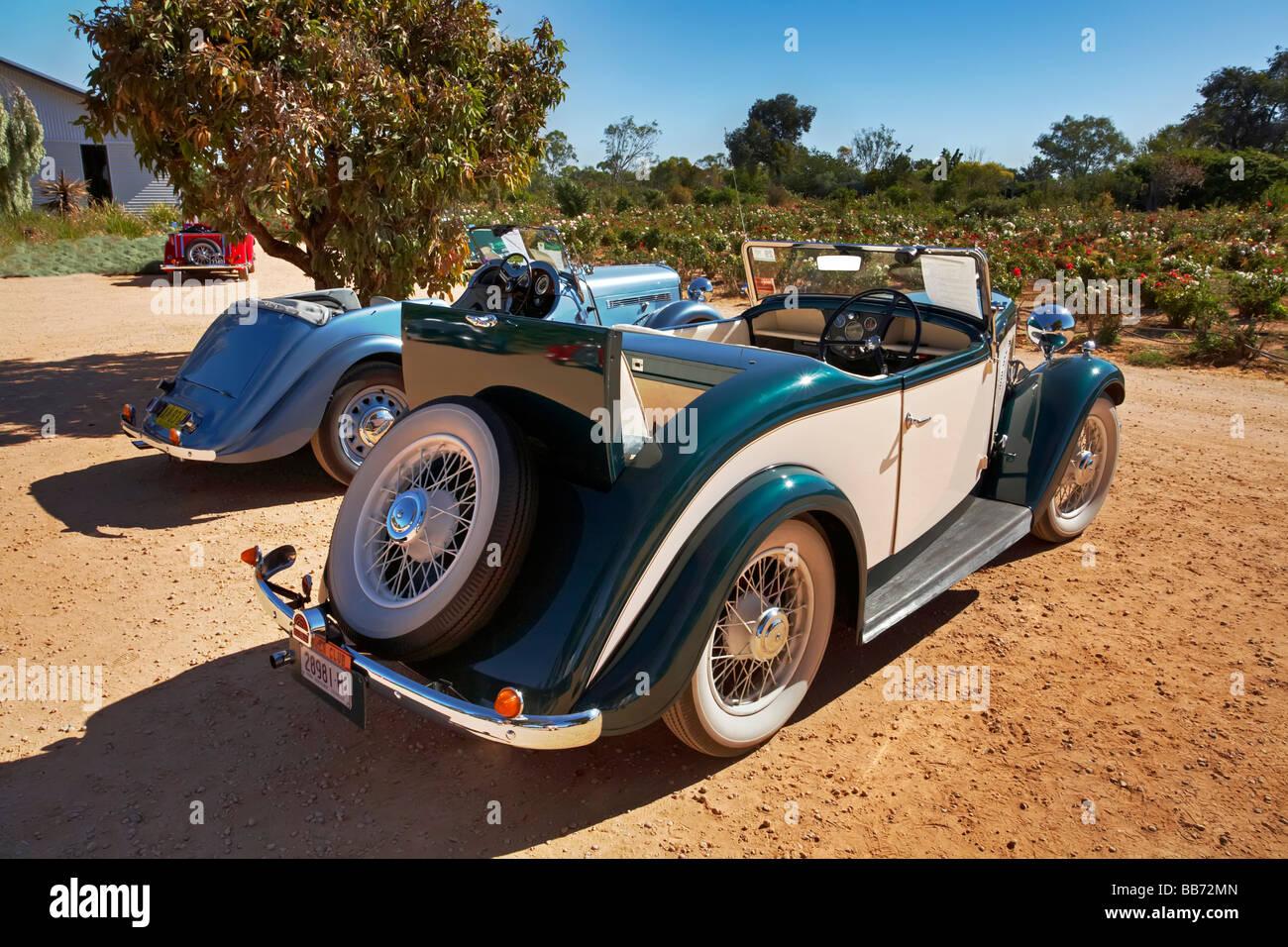 Cantante histórico automóviles en un fin de semana se reúnen en Renmark en Riverland, South Australia Imagen De Stock