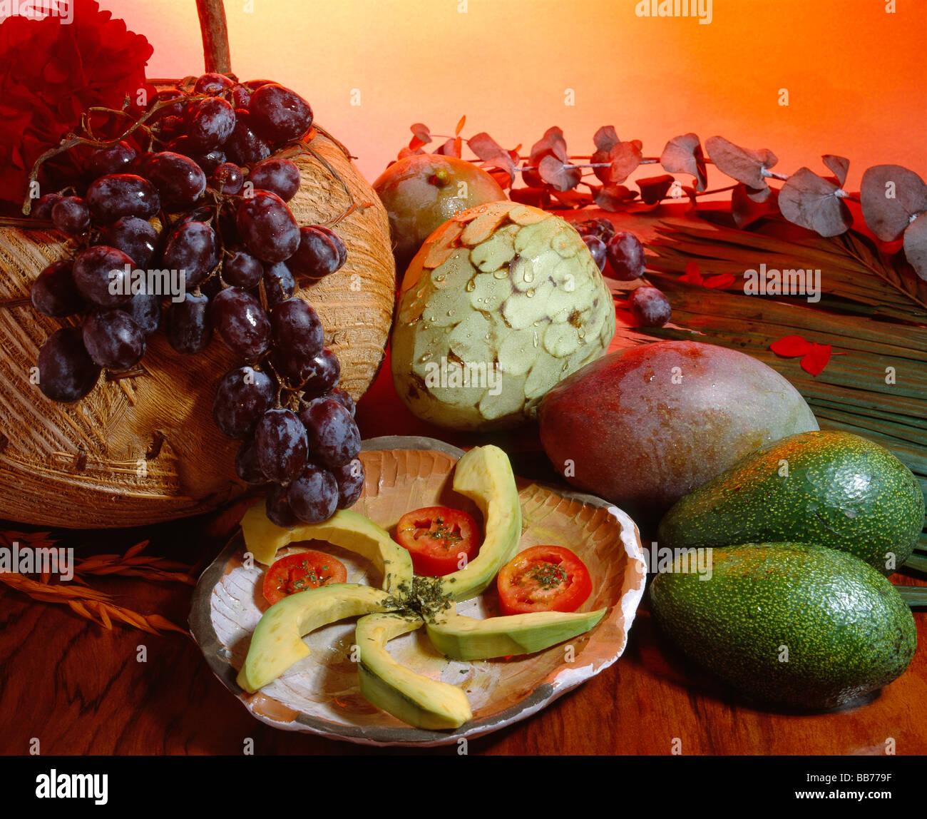 Frutas bodegón bodegon de alimentacion Foto de stock