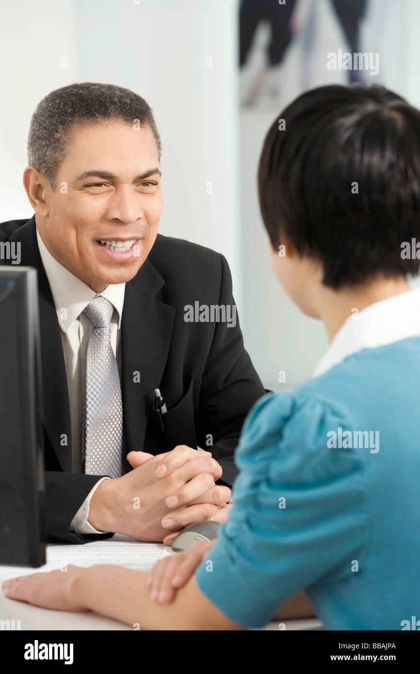 Un cordial servicio de atención al cliente Imagen De Stock