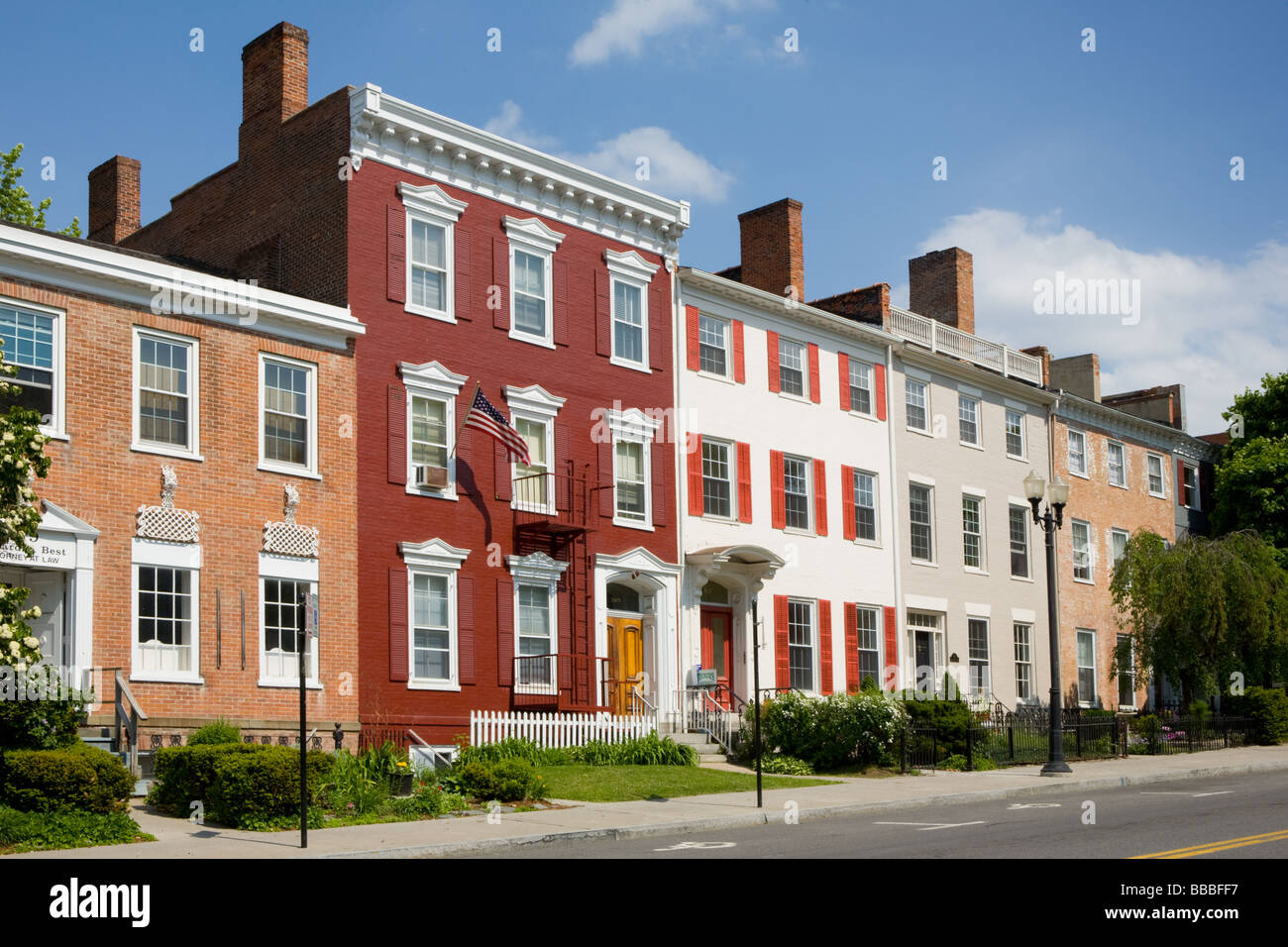 Arquitectura de estilo federal en Ginebra, Nueva York, Ontario County región de Finger Lakes Imagen De Stock