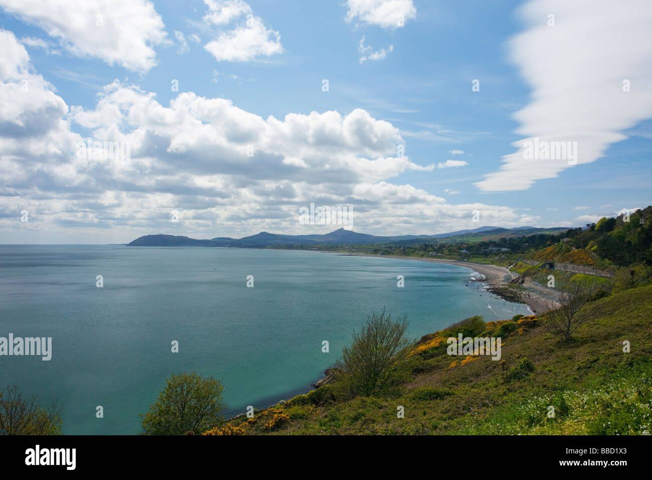 La Bahía de Dublín, mirando al sur de Bray Irlanda Irlanda, República de Irlanda Foto de stock