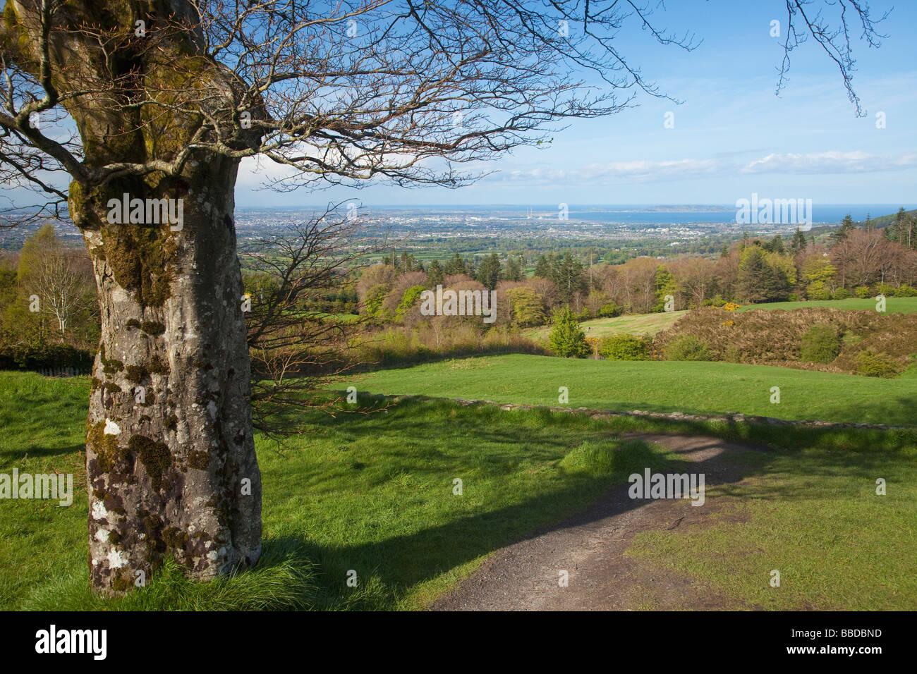 La Bahía de Dublín de Glencullen County Wicklow Irlanda Irlanda, República de Irlanda Foto de stock