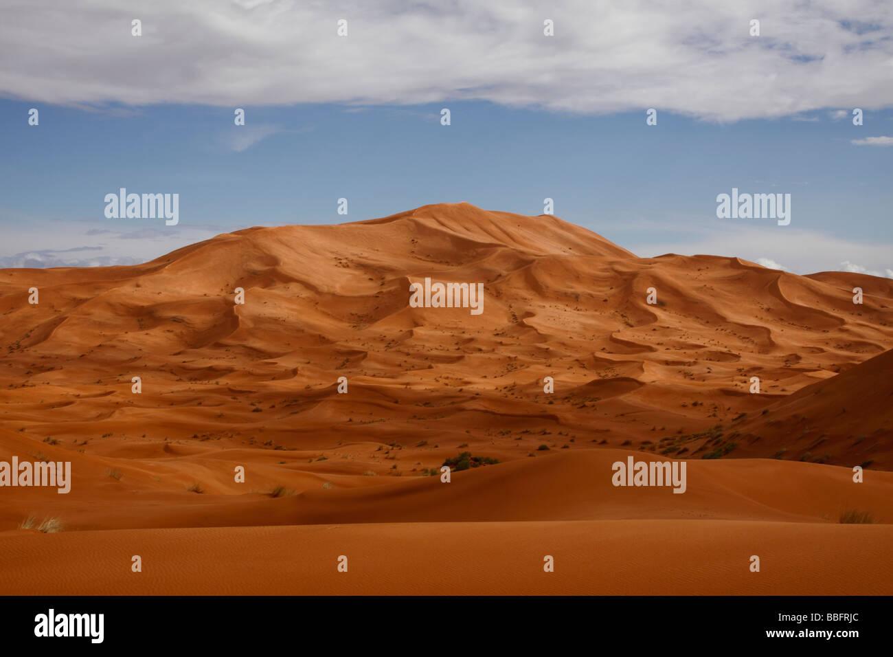 África, África del Norte, Marruecos, el desierto del Sahara, Merzouga, Erg Chebbi Foto de stock