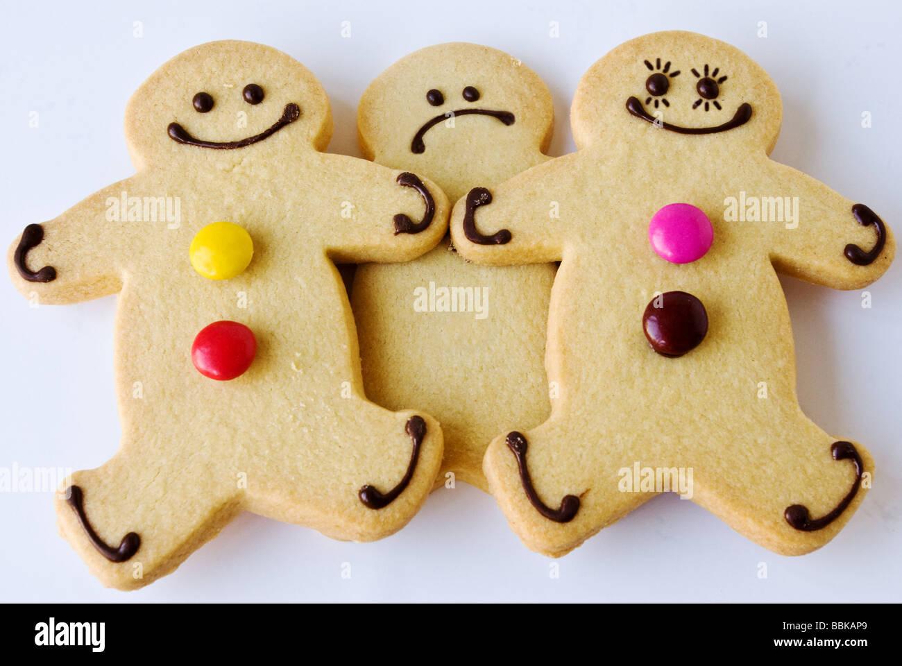 Un celoso gingerbread man Foto de stock
