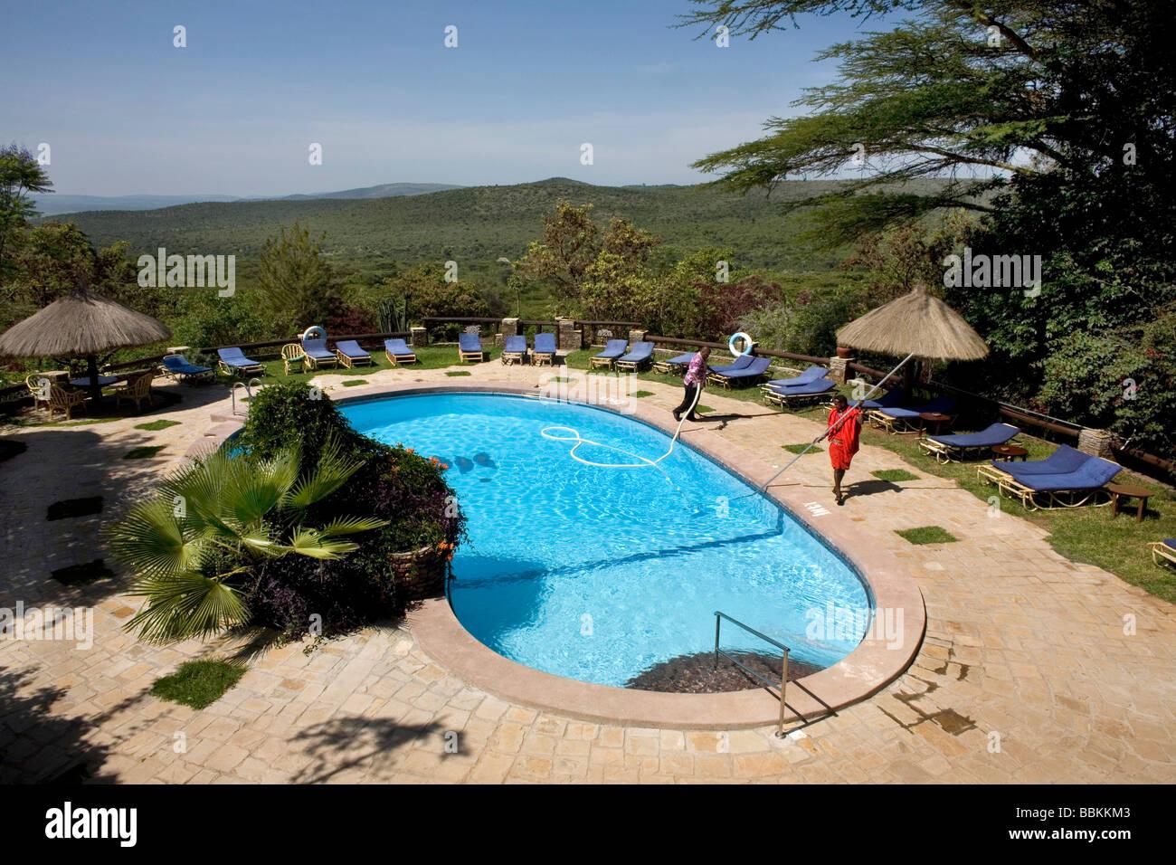 Ngoiroro es una aldea de 200 habitantes, todos pertenecientes a la tribu Massai el pueblo sienta justo en el valle Foto de stock