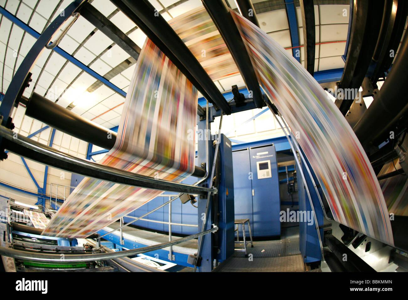 Impresión offset Dijkman esta empresa imprime el Financieel Dagblad Dutch kidsweek Financial Times y otros Imagen De Stock