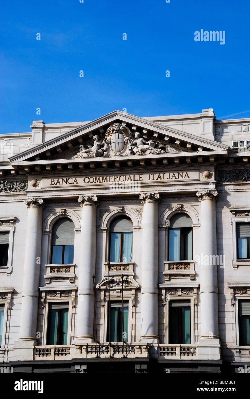 Italia, Milán, Banca Commerciale Italiana BCI Imagen De Stock
