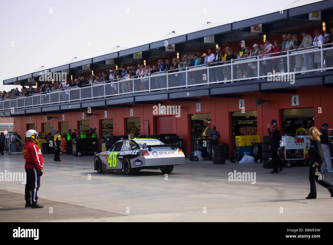 Para calificar para el Shelby 427 2009 carrera de Nascar en Las Vegas Motor Speedway Las Vegas Nevada Imagen De Stock