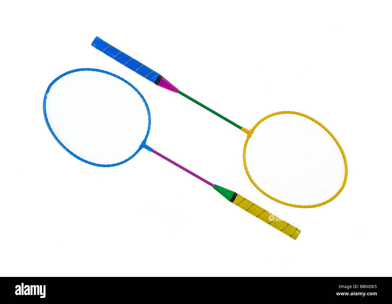 Raquetas de badminton Imagen De Stock