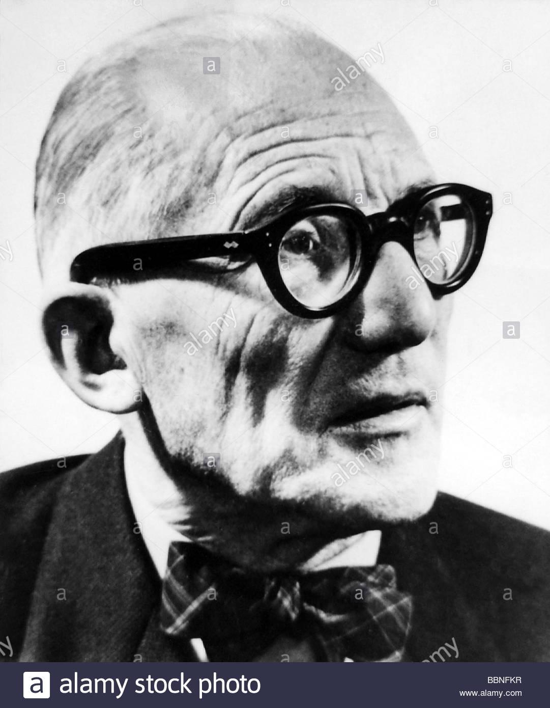 Le Corbusier (Charles-Edouard Jeanneret-Gris), 6.10.1887 - 27.8.1965, Suiza - El arquitecto francés, retrato, Imagen De Stock