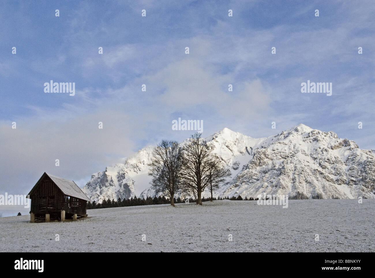 Geografía / viajes, Austria, Salzburgo, estado, paisajes, cordillera Dachstein Scheichenspitz (2667 m), Additional Imagen De Stock