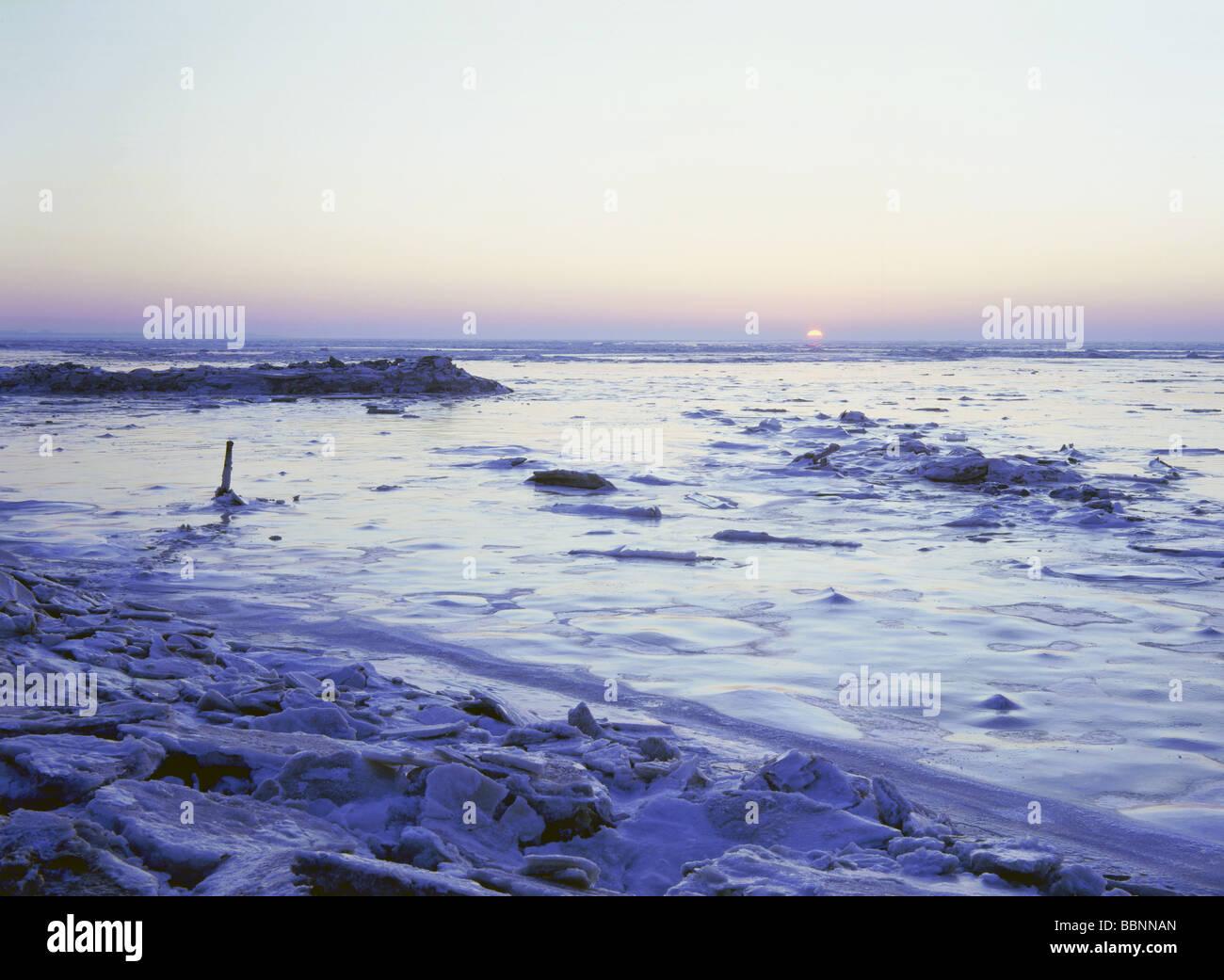 Geografía / viajes, Alemania, Baja Sajonia, paisajes, Mar del Norte, Norddeich congelados, marismas, Additional Imagen De Stock