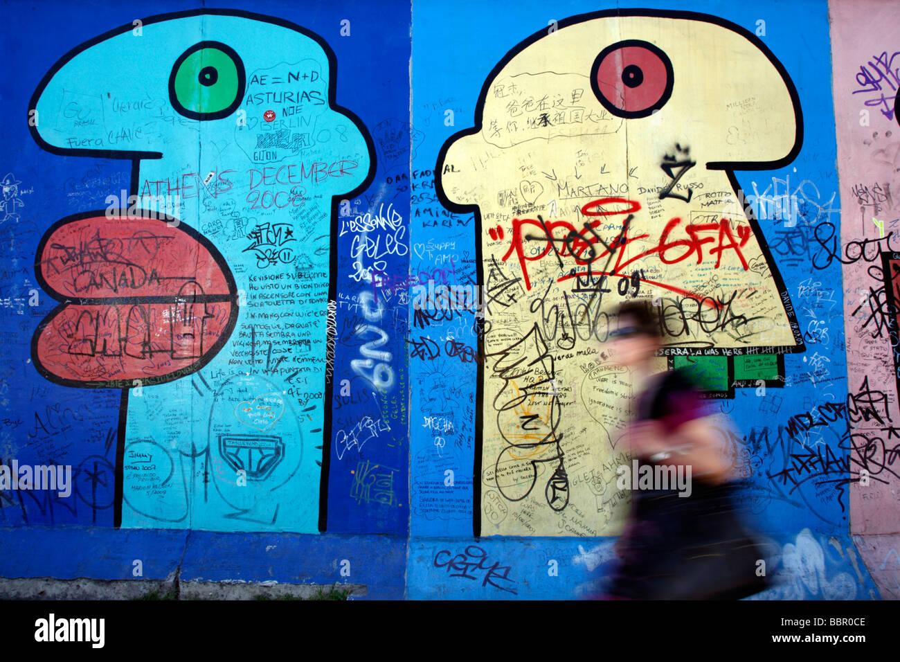 Muro de Berlín ALEMANIA Foto de stock