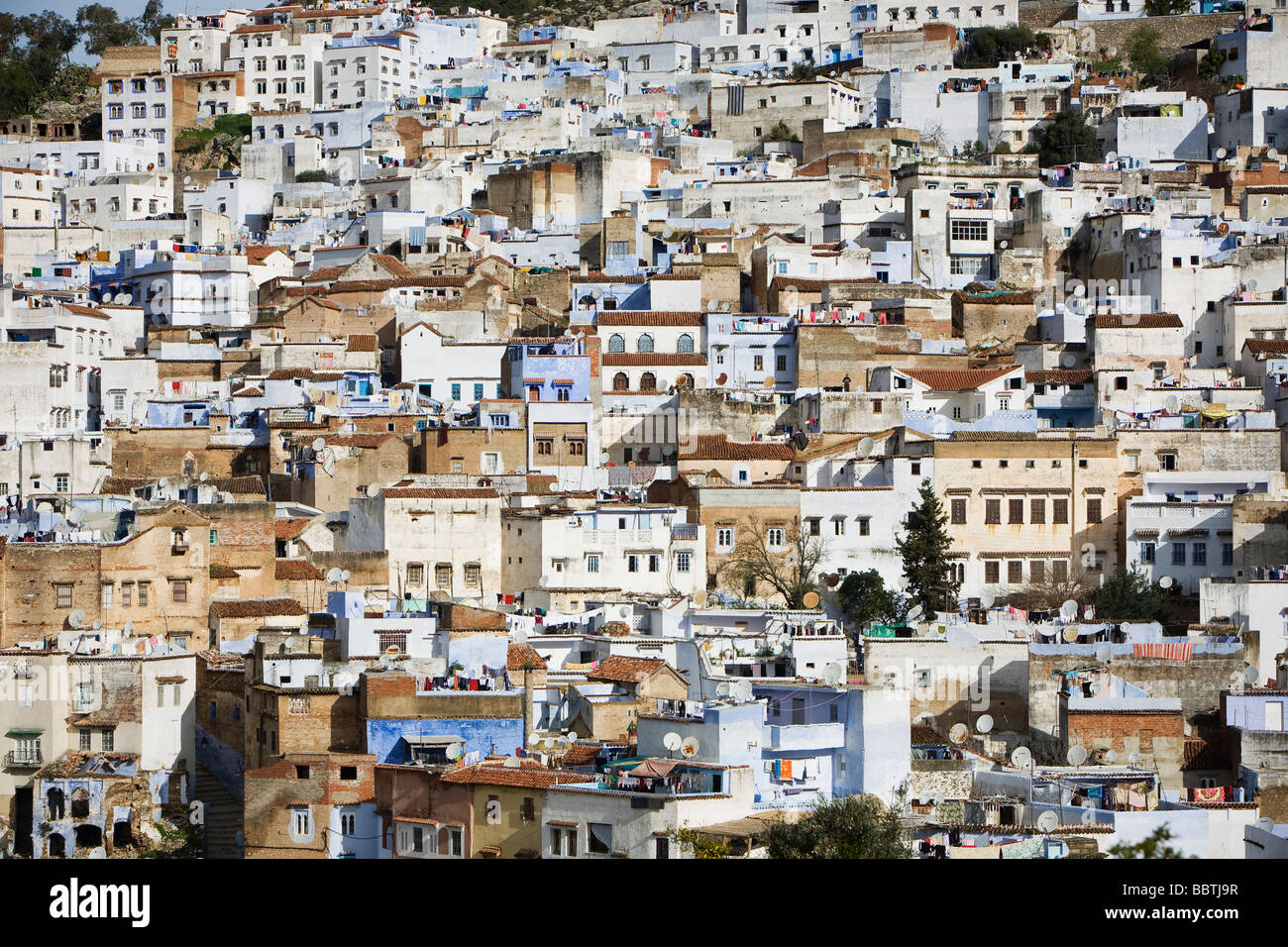 Vista de Chefchaouen, Marruecos Imagen De Stock