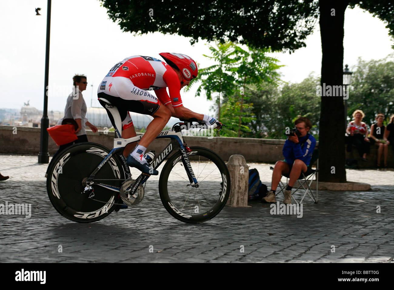Lars Bak Dinamarca equipo Saxo Bank Giro de Italia Imagen De Stock