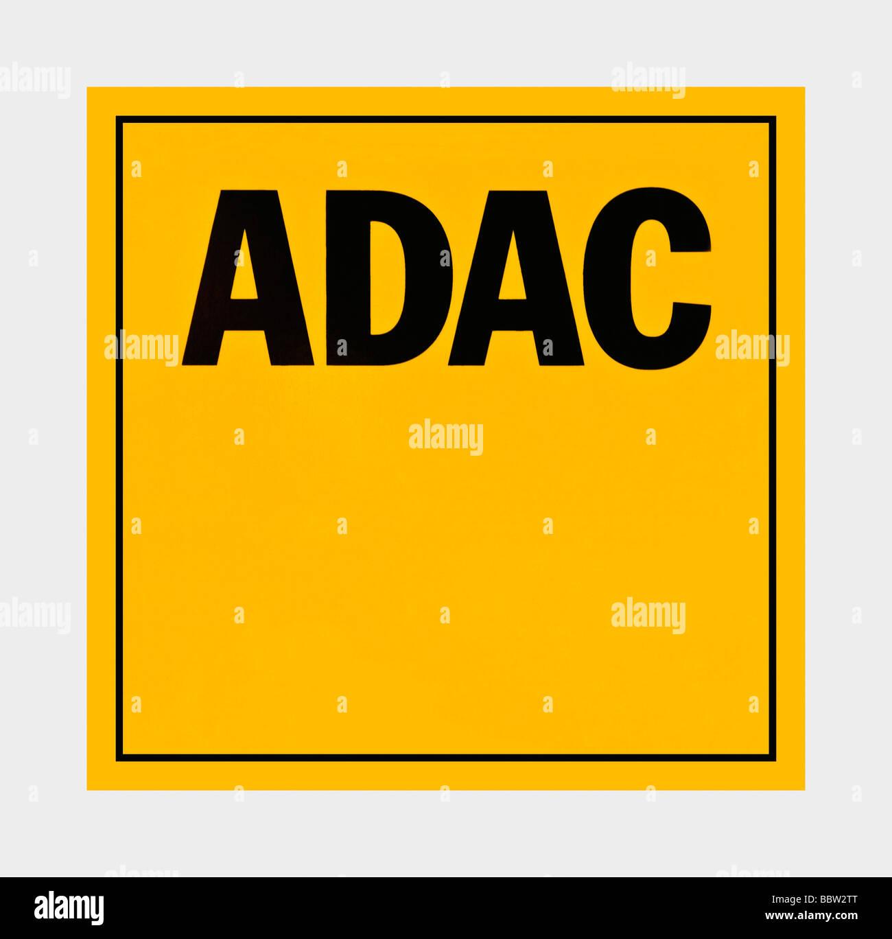 Logotipo de ADAC, la asociación alemana del automóvil Imagen De Stock