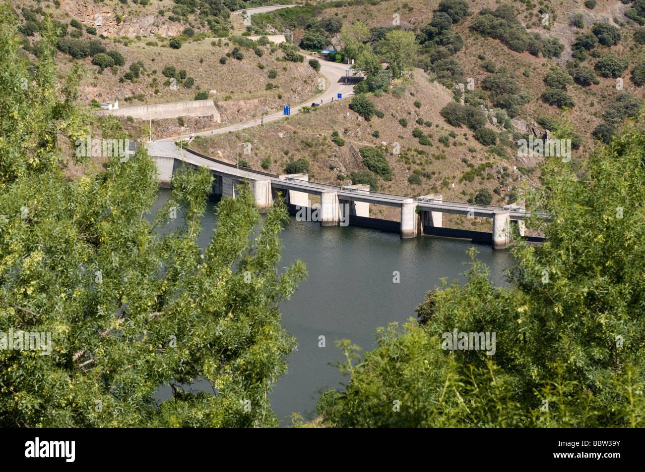 Presa de Miranda do Douro, Portugal Imagen De Stock