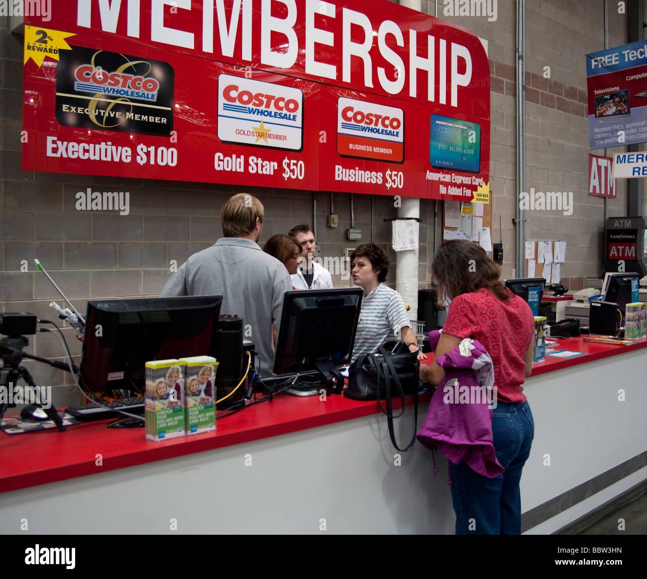 Contador de pertenencia, Costco, almacén, EE.UU. Imagen De Stock