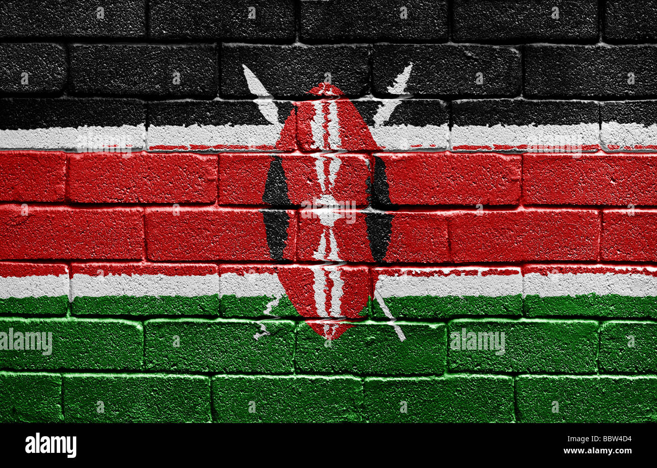 Bandera de Kenia Imagen De Stock