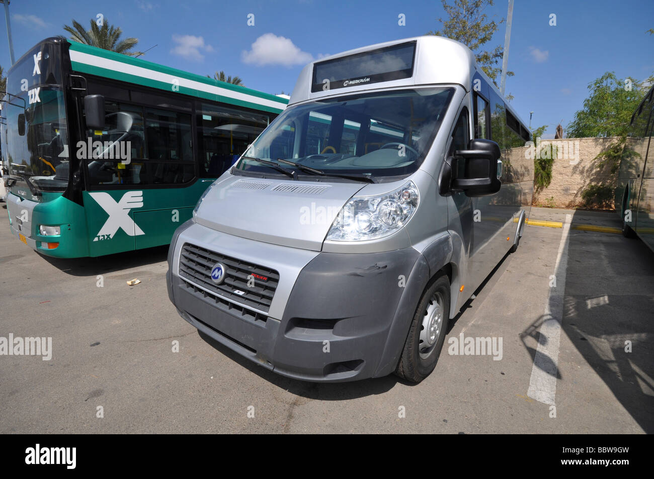 Israel recién ensamblado en bus Merkavim Ltd Imagen De Stock