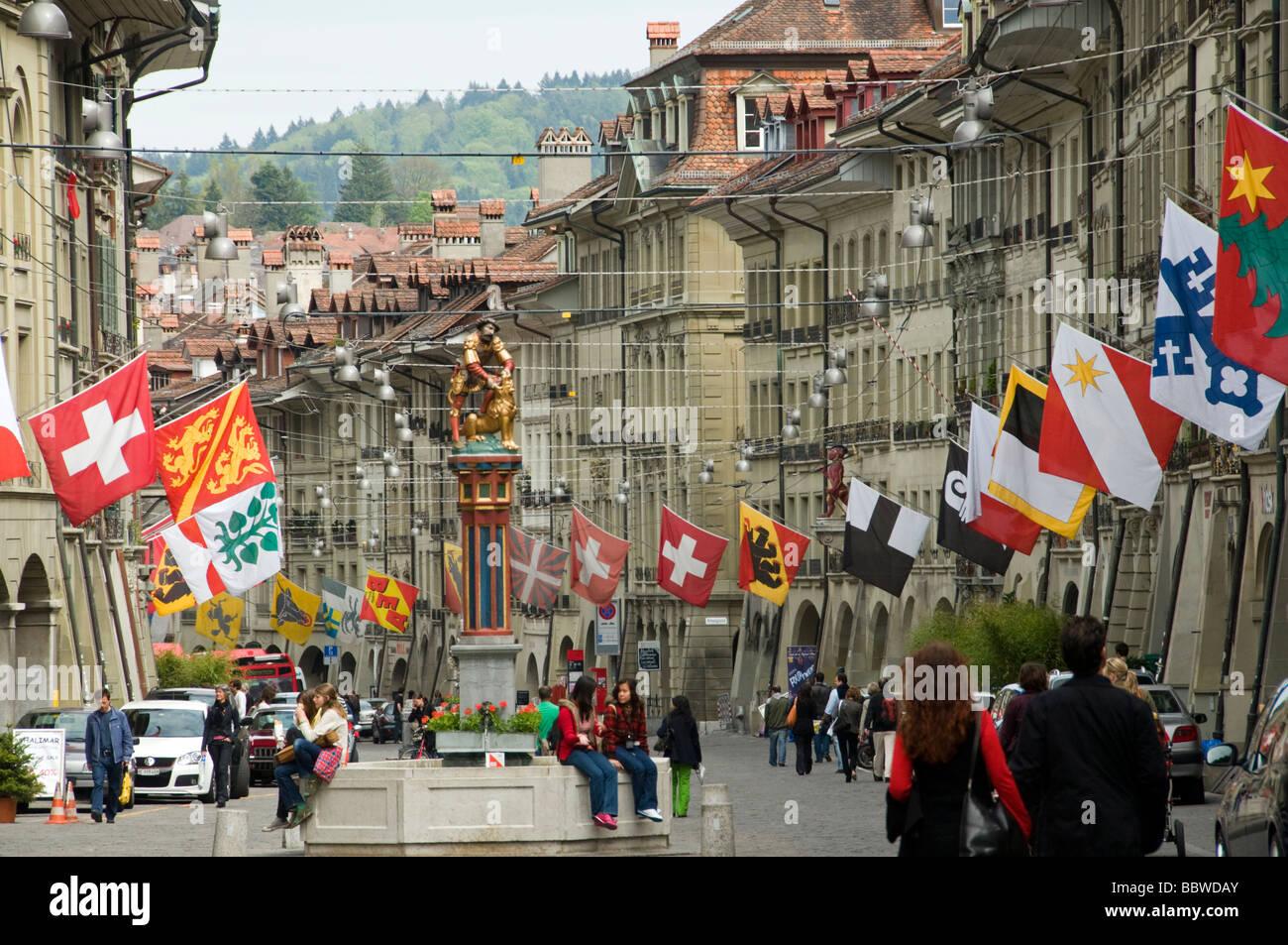 Ciudad vieja de Berna, Suiza Foto de stock