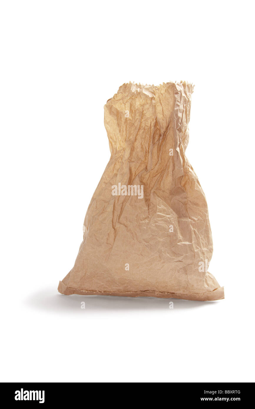 Bolsa de papel marrón arrugado Foto & Imagen De Stock: 24561056 ...