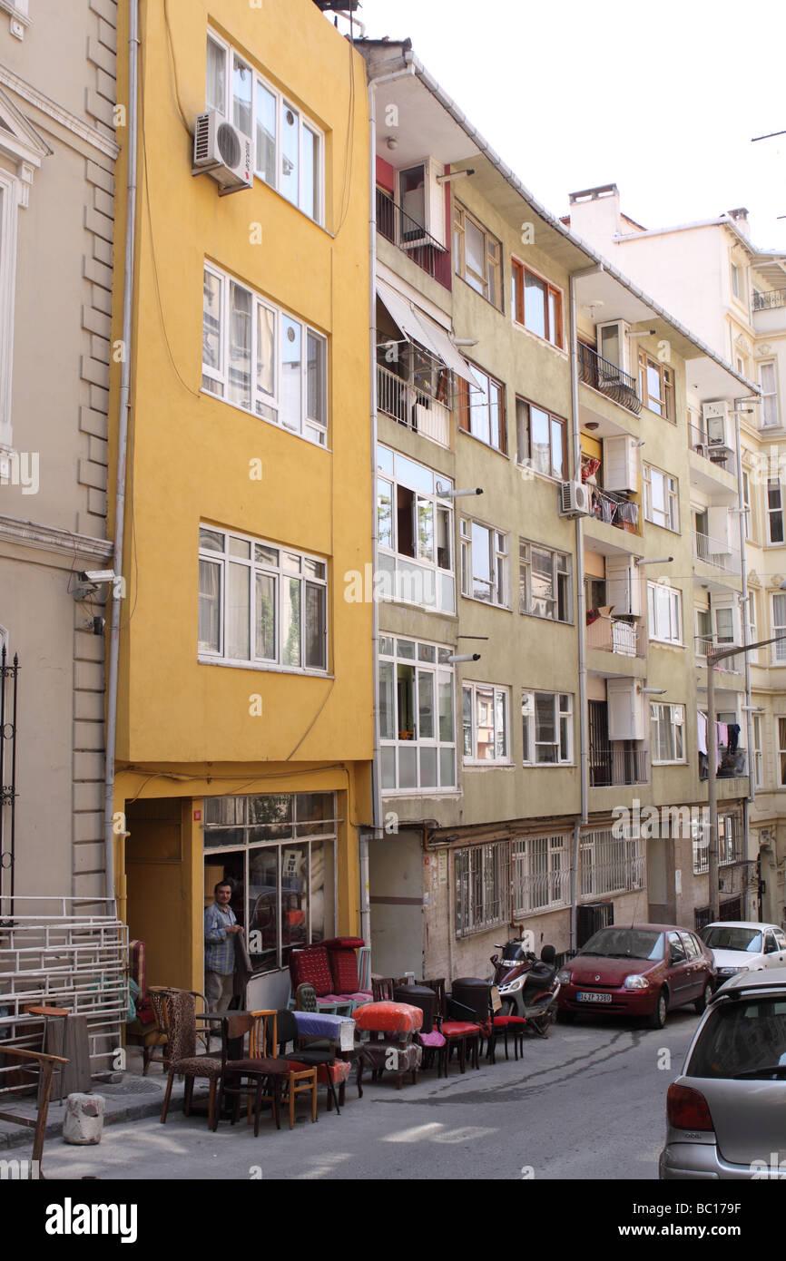 Estambul, Turquía, el distrito residencial barrio de Galatasaray en el Beyoglu parte de la ciudad de viviendas Imagen De Stock