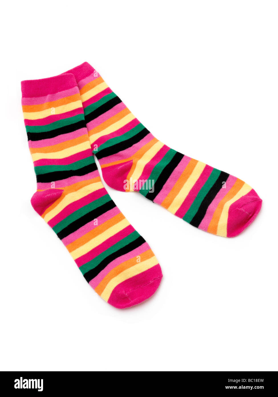 Par de calcetines Stripey Imagen De Stock